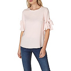 Dorothy Perkins - Blush tie sleeves top