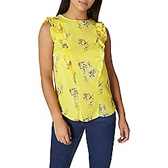 Dorothy Perkins - Floral ruffle top
