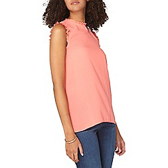 Dorothy Perkins - **tall coral textured sleeveless top