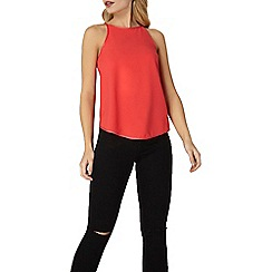 Dorothy Perkins - Red satin camisole top