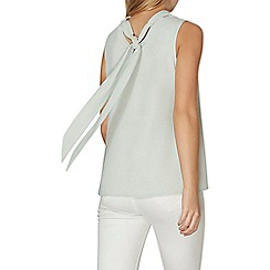 Dorothy Perkins - Mint tie back shell top