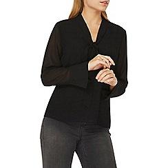 Dorothy Perkins - Black pussybow blouse
