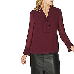 Dorothy Perkins - Purple pussybow blouse