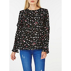 Dorothy Perkins - Black ditsy floral blouse