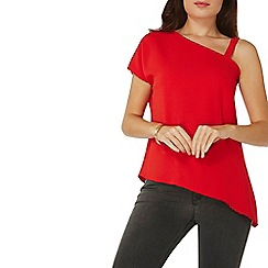 Dorothy Perkins - Red one shoulder top