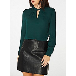 Dorothy Perkins - Green twist neck blouse