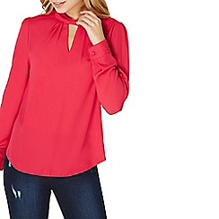 Dorothy Perkins - Pink twist neck blouse