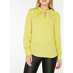 Dorothy Perkins - Lime twist neck blouse