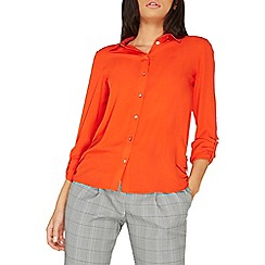 Dorothy Perkins - Orange tab roll sleeves shirt
