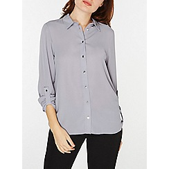 Dorothy Perkins - Grey roll sleeves shirt