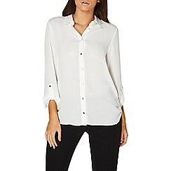 Dorothy Perkins - Ivory tab roll sleeves shirt