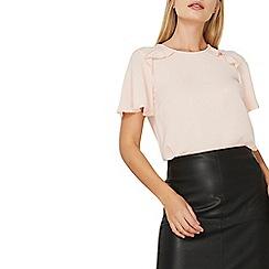 Dorothy Perkins - Pink ruffle front t-shirt