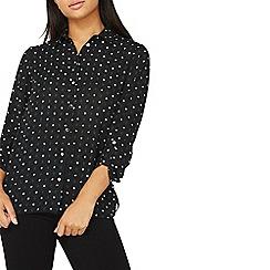 Dorothy Perkins - Black polka dot geometric print shirt