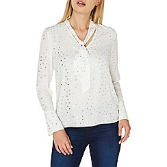Dorothy Perkins - Ivory and silver spotted top