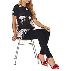 Dorothy Perkins - Black floral print tunic