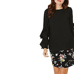 Dorothy Perkins - Black ruffle long sleeves top