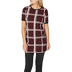 Dorothy Perkins - Wine red check tunic top