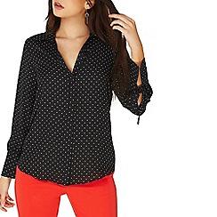 Dorothy Perkins - Black spot tie cuff shirt