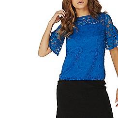 Dorothy Perkins - Blue ruffle lace t-shirt