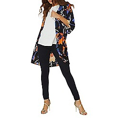 Dorothy Perkins - Navy printed floral kimono