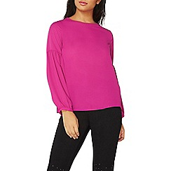 Dorothy Perkins - Pink balloon sleeves top