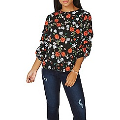 Dorothy Perkins - Blue and red floral print top