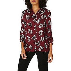 Dorothy Perkins - Port floral roll sleeve shirt