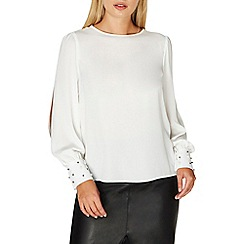 Dorothy Perkins - Ivory pearl cuff top