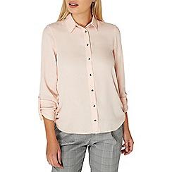 Dorothy Perkins - Blush tab roll sleeve shirt