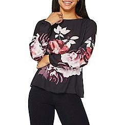 Dorothy Perkins - Black floral print blouse
