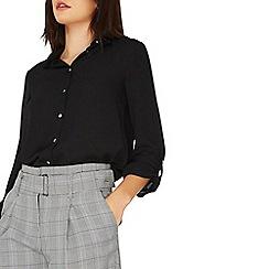 Dorothy Perkins - Black tab roll sleeve shirt