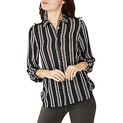 Dorothy Perkins - Navy stripe roll sleeve shirt