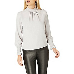 Dorothy Perkins - Grey shirred neck blouse
