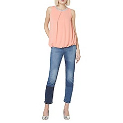 Dorothy Perkins - Coral embellished sleeveless top
