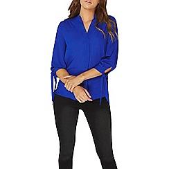 Dorothy Perkins - Cobalt blue tie cuff shirt