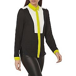 Dorothy Perkins - Navy colour block shirt