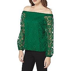 Dorothy Perkins - Green lace bardot top