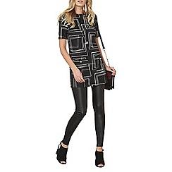 Dorothy Perkins - Black geometric print tunic