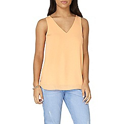 Dorothy Perkins - Tangerine cross back built up top