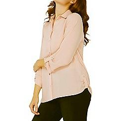 Dorothy Perkins - Pink tab roll sleeves shirt
