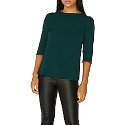 Dorothy Perkins - Green puff sleeves top