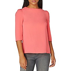 Dorothy Perkins - Pink puff sleeves top