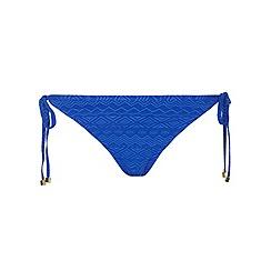 Dorothy Perkins - Cobalt textured tie side bikini pant