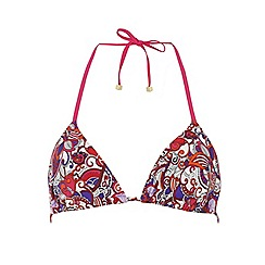 Dorothy Perkins - Multi paisley triangle bikini top