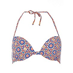 Dorothy Perkins - Geo ruffle push up bikini top