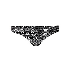 Dorothy Perkins - Black and white geo print bikini bottom