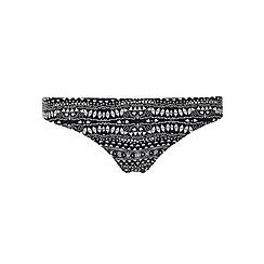 Dorothy Perkins - Black and white geo print bikini bottom