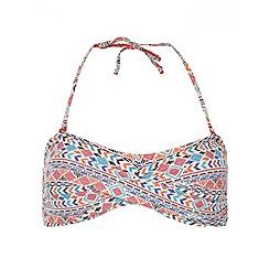 Dorothy Perkins - White bandeau bikini top