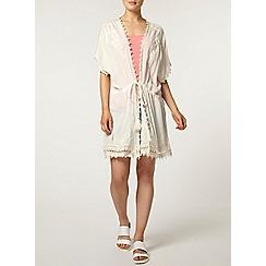 Dorothy Perkins - Embroidered beach kimono