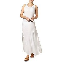 Dorothy Perkins - White crochet back maxi dress